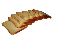 σκοτεινή φέτα ψωμιού του φρέσκου μονωμένου άσπρου υποβάθρου Στοκ Εικόνα