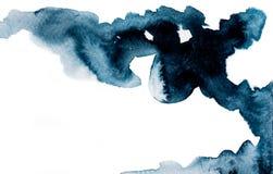 Σκοτεινή χρωματισμένη εικόνα watercolor στοκ εικόνες με δικαίωμα ελεύθερης χρήσης