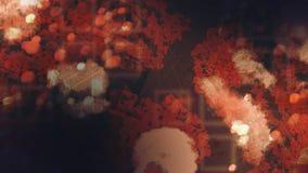 Σκοτεινή ψηφιακή αφηρημένη ταπετσαρία ελεύθερη απεικόνιση δικαιώματος