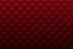 σκοτεινή floral κόκκινη άνευ ραφής ταπετσαρία καρδιών διανυσματική απεικόνιση