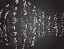 σκοτεινοί αριθμοί Στοκ φωτογραφία με δικαίωμα ελεύθερης χρήσης