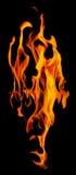 Σκοτεινοί κίτρινοι σπινθήρες πυρκαγιάς που απομονώνονται στο Μαύρο Στοκ φωτογραφίες με δικαίωμα ελεύθερης χρήσης
