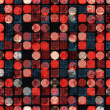 Σκοτεινοί χρωματισμένοι κύκλοι και πολύγωνα αφηρημένη ανασκόπηση γεωμ&epsil επίσης corel σύρετε το διάνυσμα απεικόνισης Στοκ Φωτογραφία