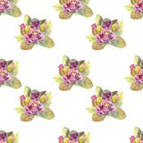 r Σκοτεινός αυξήθηκε λουλούδια, πράσινα φύλλα r Συνθέσεις Watercolor στοκ φωτογραφίες με δικαίωμα ελεύθερης χρήσης