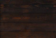 Σκοτεινός καφετής ξύλινος τοίχος Στοκ Εικόνες