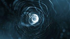 Σκοτεινός μαγικός περιτυλίχτηκε υπόβαθρο όπως το μικρόκοσμο, το μακρο κόσμο ή τη γιρλάντα Χριστουγέννων στον αέρα 4k άνευ ραφής τ απεικόνιση αποθεμάτων