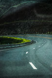 σκοτεινός δρόμος Στοκ Φωτογραφίες