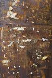 Σκοτεινός σκουριασμένος τοίχος με τη διαφήμιση Στοκ φωτογραφία με δικαίωμα ελεύθερης χρήσης