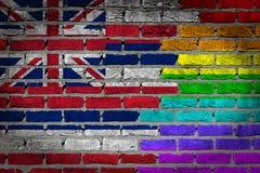 Σκοτεινός τουβλότοιχος - δικαιώματα LGBT - Χαβάη Στοκ Εικόνα