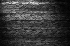 Σκοτεινός τουβλότοιχος, ο μαύρος φραγμός ως σύσταση υποβάθρου Στοκ εικόνες με δικαίωμα ελεύθερης χρήσης