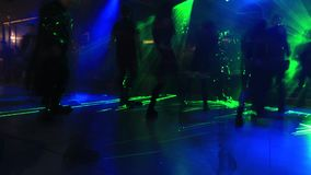 Σκοτεινός χορός ντισκοτέκ απόθεμα βίντεο