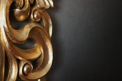 σκοτεινός χρυσός τοίχος Στοκ Εικόνες