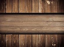 Σκοτεινός browny γρατσουνισμένος ξύλινος τοίχος, φράκτης, πάτωμα Στοκ Εικόνα