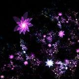 Σκοτεινός fractal κήπος λουλουδιών απεικόνιση αποθεμάτων