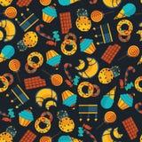 Σκοτεινό άνευ ραφής σχέδιο γλυκών Στοκ φωτογραφία με δικαίωμα ελεύθερης χρήσης