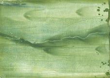 Σκοτεινό έγγραφο watercolor θάλασσας πράσινο χρωματισμένο Στοκ Εικόνες