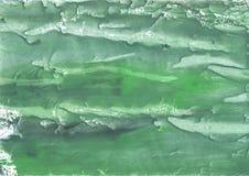 Σκοτεινό έγγραφο watercolor θάλασσας πράσινο hand-drawn Στοκ Φωτογραφίες