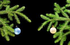 σκοτεινό δέντρο διακοσμή& Στοκ φωτογραφία με δικαίωμα ελεύθερης χρήσης