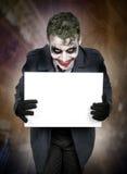 Σκοτεινό ανατριχιαστικό πρόσωπο πλακατζών Στοκ Εικόνες