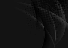 Σκοτεινό αφηρημένο σχέδιο κυμάτων Στοκ Εικόνα