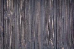 Σκοτεινό γκρίζο ξύλινο υπόβαθρο Παλαιά εκλεκτής ποιότητας επιφάνεια Στοκ Φωτογραφίες