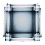 Σκοτεινό διαφανές πολυστρωματικό fractal στο λευκό ελεύθερη απεικόνιση δικαιώματος