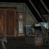 σκοτεινό δωμάτιο ανασκόπ&eta ελεύθερη απεικόνιση δικαιώματος