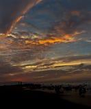 σκοτεινό ηλιοβασίλεμα Στοκ φωτογραφίες με δικαίωμα ελεύθερης χρήσης