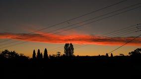 σκοτεινό ηλιοβασίλεμα Στοκ εικόνα με δικαίωμα ελεύθερης χρήσης