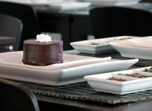 Σκοτεινό κέικ σοκολάτας Στοκ Φωτογραφία