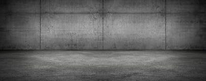 Σκοτεινό κενό σκηνικό σύγχρονο πανοραμικό κατασκευασμένο υπόβαθρο δωματίων συμπαγών τοίχων στοκ φωτογραφίες με δικαίωμα ελεύθερης χρήσης