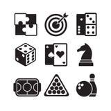 σκοτεινό κόκκινο καθορισμένο διανυσματικό λευκό παλετών απεικόνισης εικονιδίων παιχνιδιών Στοκ Φωτογραφίες