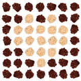 σκοτεινό λευκό τρουφών σοκολάτας αμυγδάλων Στοκ Εικόνες