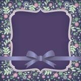 σκοτεινό λουλούδι καρτών Στοκ Εικόνες