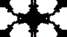 Σκοτεινό μελάνι στο νερό στο άσπρο υπόβαθρο τρισδιάστατο μελάνι ζωτικότητας με τη μεταλλίνη luma ως άλφα κανάλι για τα αποτελέσμα διανυσματική απεικόνιση