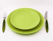 σκοτεινό πιάτο μαχαιριών δικράνων ανασκόπησης Στοκ Εικόνα
