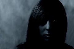 σκοτεινό πορτρέτο Στοκ φωτογραφία με δικαίωμα ελεύθερης χρήσης