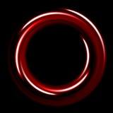 Σκοτεινό πρότυπο με τις κόκκινες σπείρες κύκλων Στοκ φωτογραφίες με δικαίωμα ελεύθερης χρήσης