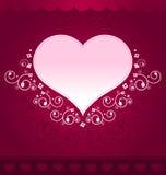 σκοτεινό ροζ καρδιών σχε& Στοκ Φωτογραφία