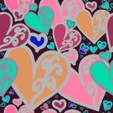Σκοτεινό ροζ καρδιών πολύ Στοκ εικόνες με δικαίωμα ελεύθερης χρήσης