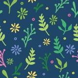 Σκοτεινό συρμένο χέρι floral σχέδιο Στοκ Φωτογραφίες