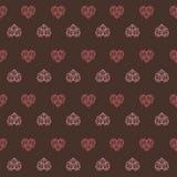 Σκοτεινό σχέδιο καρδιών σοκολάτας ρόδινο Στοκ εικόνες με δικαίωμα ελεύθερης χρήσης
