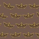 Σκοτεινό σχέδιο σκαφών εγγράφου σοκολάτας κίτρινο Στοκ φωτογραφία με δικαίωμα ελεύθερης χρήσης