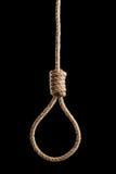 Σκοτεινό σχοινί hangmans Στοκ εικόνα με δικαίωμα ελεύθερης χρήσης