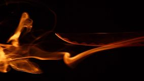 Σκοτεινό υπόβαθρο καπνού ξιφών Σαμουράι κανένα hd μήκος σε πόδηα απόθεμα βίντεο