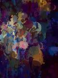 Σκοτεινό υπόβαθρο κτυπημάτων βουρτσών χρώματος Στοκ Εικόνες