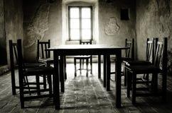 Σκοτεινό δωμάτιο, φρούριο Rupea στοκ εικόνα
