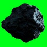 Σκοτεινό asteroid βράχου απομόνωσε την τρισδιάστατη απόδοση Στοκ Φωτογραφίες