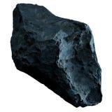Σκοτεινό asteroid βράχου απομόνωσε την τρισδιάστατη απόδοση Στοκ Εικόνα