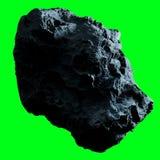 Σκοτεινό asteroid βράχου απομόνωσε την τρισδιάστατη απόδοση Στοκ φωτογραφία με δικαίωμα ελεύθερης χρήσης